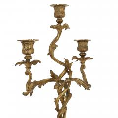 Two antique Rococo style gilt bronze candelabra - 1577238