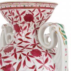 Two antique painted porcelain vases - 2013594
