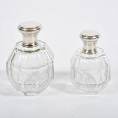 Two glass and silver scent bottles - 1240541