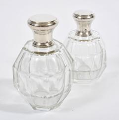 Two glass and silver scent bottles - 1240550