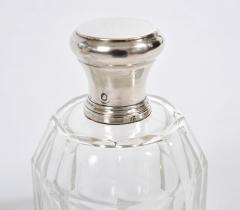 Two glass and silver scent bottles - 1240551