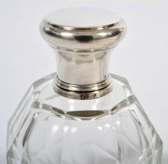 Two glass and silver scent bottles - 1240552