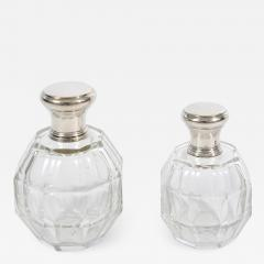 Two glass and silver scent bottles - 1242268