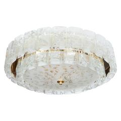 Two tier molded glass element chandelier - 1306545