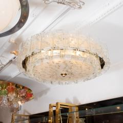 Two tier molded glass element chandelier - 1306546