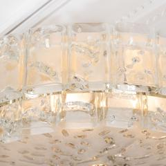 Two tier molded glass element chandelier - 1306547