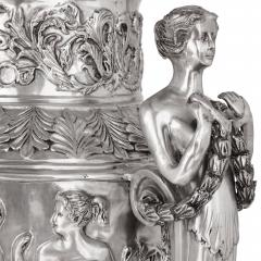 Two very large French silvered bronze vases - 1666828