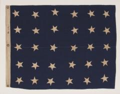 U S NAVY JACK WITH 30 STARS AN ENTIRELY HAND SEWN PRE CIVIL WAR EXAMPLE - 851535