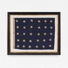 U S NAVY JACK WITH 30 STARS AN ENTIRELY HAND SEWN PRE CIVIL WAR EXAMPLE - 851705