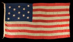 U S Navy Small Boat Ensign Flag with 13 Hand Sewn Stars - 639447