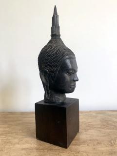 U Thong Bronze Buddha Head Southeast Asia - 1543883