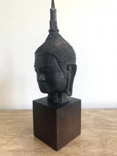 U Thong Bronze Buddha Head Southeast Asia - 1543885