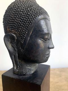 U Thong Bronze Buddha Head Southeast Asia - 1543889