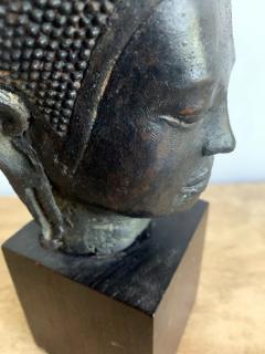 U Thong Bronze Buddha Head Southeast Asia - 1543892