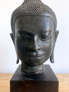 U Thong Bronze Buddha Head Southeast Asia - 1543893
