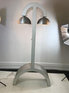 UNIQUE MODERNIST ALUMINUM AND WOOD FLOOR LAMP - 1170585