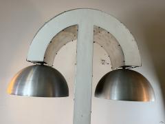 UNIQUE MODERNIST ALUMINUM AND WOOD FLOOR LAMP - 1170586