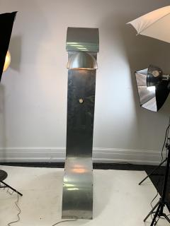 UNIQUE MODERNIST ALUMINUM AND WOOD FLOOR LAMP - 1170593