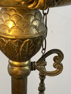 UNUSUAL DRAMATIC BAROQUE WHALE OIL STYLE FLOOR LAMP - 1237172