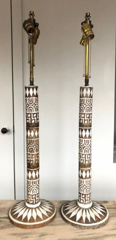 Ugo Zaccagnini Pair of Large Modernist Ceramic Table Lamps by Zaccagnini - 1262543