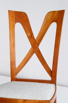Ulderico Carlo Forni Set of Six Ulderico Carlo Forni Dining Chairs in Cherry Wood Italy 1940s - 1190623