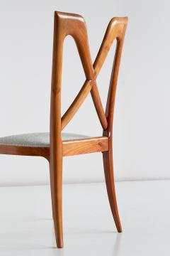 Ulderico Carlo Forni Set of Six Ulderico Carlo Forni Dining Chairs in Cherry Wood Italy 1940s - 1190624