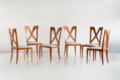 Ulderico Carlo Forni Set of Six Ulderico Carlo Forni Dining Chairs in Cherry Wood Italy 1940s - 1190627
