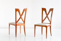 Ulderico Carlo Forni Set of Six Ulderico Carlo Forni Dining Chairs in Cherry Wood Italy 1940s - 1190628