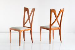 Ulderico Carlo Forni Set of Six Ulderico Carlo Forni Dining Chairs in Cherry Wood Italy 1940s - 1190629