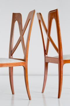 Ulderico Carlo Forni Set of Six Ulderico Carlo Forni Dining Chairs in Cherry Wood Italy 1940s - 1190631