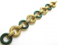 Ulmer et Cie Malachite and Gold Link Modular Jewel - 75734