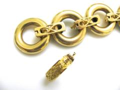 Ulmer et Cie Malachite and Gold Link Modular Jewel - 75736