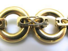 Ulmer et Cie Malachite and Gold Link Modular Jewel - 75738