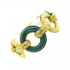 Ulmer et Cie Malachite and Gold Link Modular Jewel - 75886