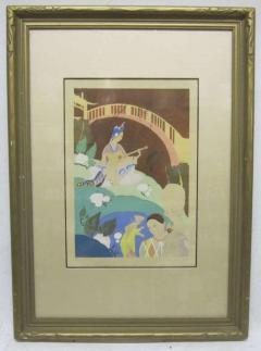 Umberto Brunelleschi Orientalist Lithograph and Watercolor by Umberto Brunelleschi - 225554