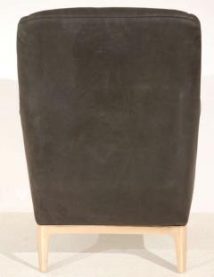 Unique Club Chair with Bronze Base Cutouts - 261056