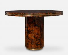Unique Italian Dining table brass tortoise shells by Ottini Milano 1973 - 1335560
