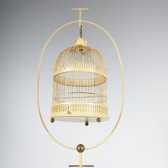 Unique Metal Bird Cage on Stand Italy 1950 - 1191786