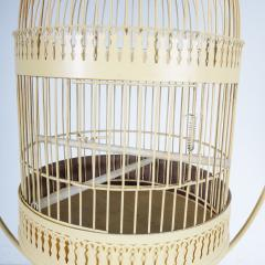 Unique Metal Bird Cage on Stand Italy 1950 - 1191789