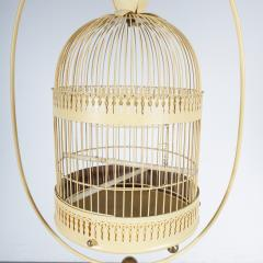 Unique Metal Bird Cage on Stand Italy 1950 - 1191791