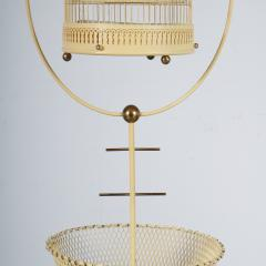 Unique Metal Bird Cage on Stand Italy 1950 - 1191793