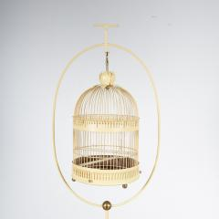 Unique Metal Bird Cage on Stand Italy 1950 - 1191794
