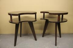 Unique Mid Century Side tables with a Walnut Finish - 1279987