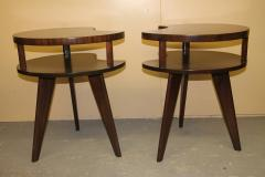 Unique Mid Century Side tables with a Walnut Finish - 1279989