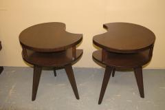 Unique Mid Century Side tables with a Walnut Finish - 1279990