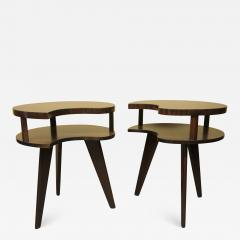 Unique Mid Century Side tables with a Walnut Finish - 1281572