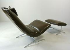 Unique Sculptural Lounge Chair And Ottoman - 394089