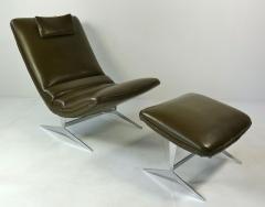 Unique Sculptural Lounge Chair And Ottoman - 394091