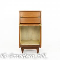 United Furniture Mid Century Walnut Nightstand Foyer Entry Console - 1869317