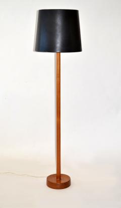 Uno Osten Kristiansson Floor Lamp in Teak Wood with Leather Shade by Uno Osten Kristiansson - 677296